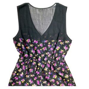 Reformed V neck floral sleeveless ROMPER